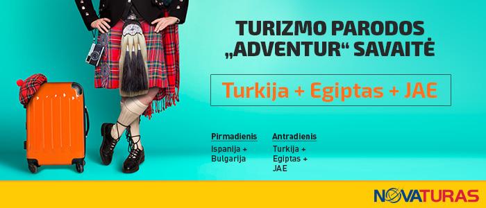 """NOVATURO ir parodos """"Adventur 2017"""" pasiūlymai!"""